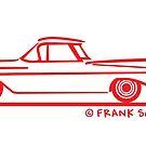 1959 1960 Chevrolet El Camino Red on Blk by Frank Schuster