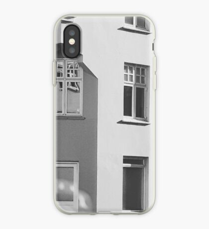 Concrete house in Reykjavik iPhone Case