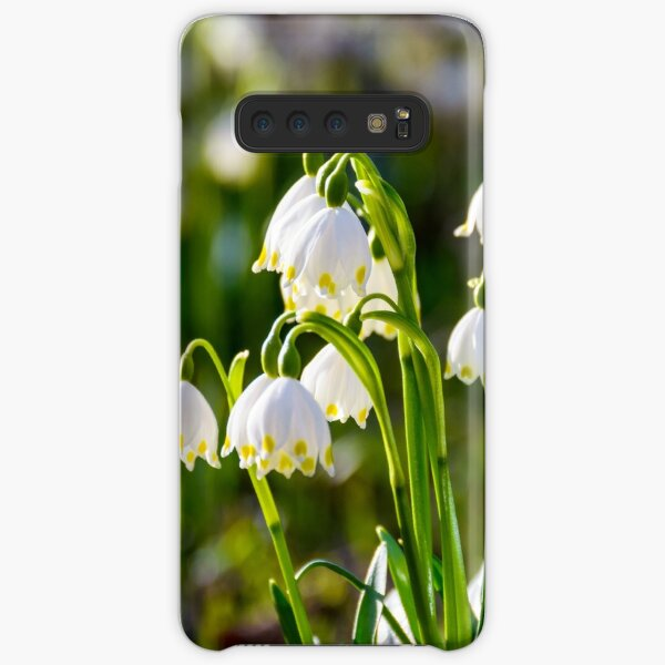 Beautiful blooming of White spring Snowflake Samsung Galaxy Snap Case