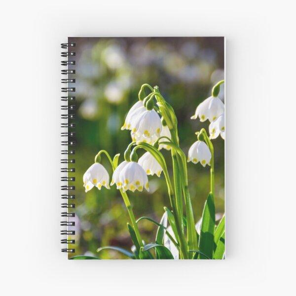 Beautiful blooming of White spring Snowflake Spiral Notebook