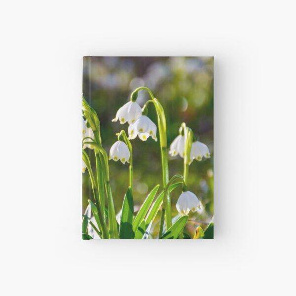 Beautiful blooming of White spring Snowflake Hardcover Journal