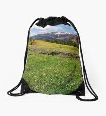 grassy fields on rolling hills Drawstring Bag