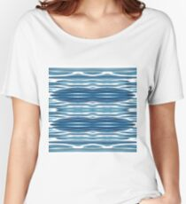 Blue, symmetry, chaos, pattern, periodicity, repeatability, math, complexity Women's Relaxed Fit T-Shirt