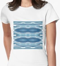 Blue, symmetry, chaos, pattern, periodicity, repeatability, math, complexity Women's Fitted T-Shirt