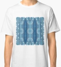 Blue, symmetry, chaos, pattern, periodicity, repeatability, math, complexity Classic T-Shirt