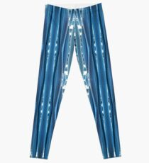 Blue, symmetry, chaos, pattern, periodicity, repeatability, math, complexity Leggings
