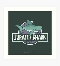 Jurassic Shark - MEGABYTE, the Megalodon Shark Art Print