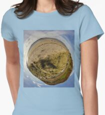Lisfannon Beach, Fahan, County Donegal, Sky Out Women's Fitted T-Shirt