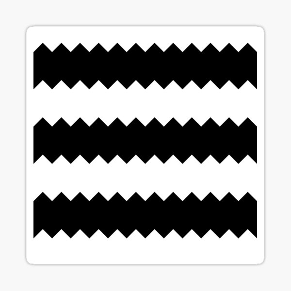 BW Tessellation 4 5 Sticker