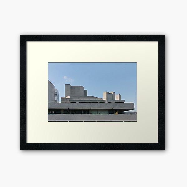 Brutalist London National Theatre Framed Art Print