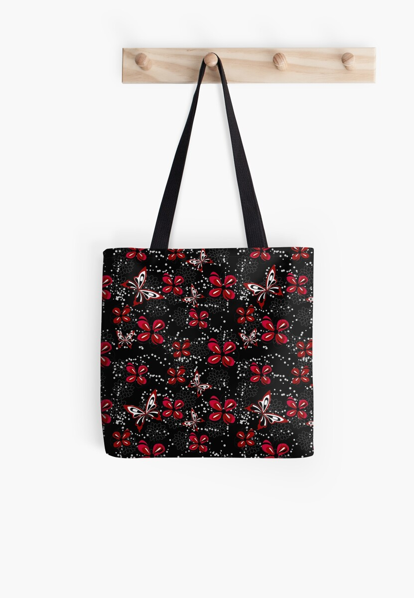 Contemporary Butterfly and floral pattern by GBCdesign