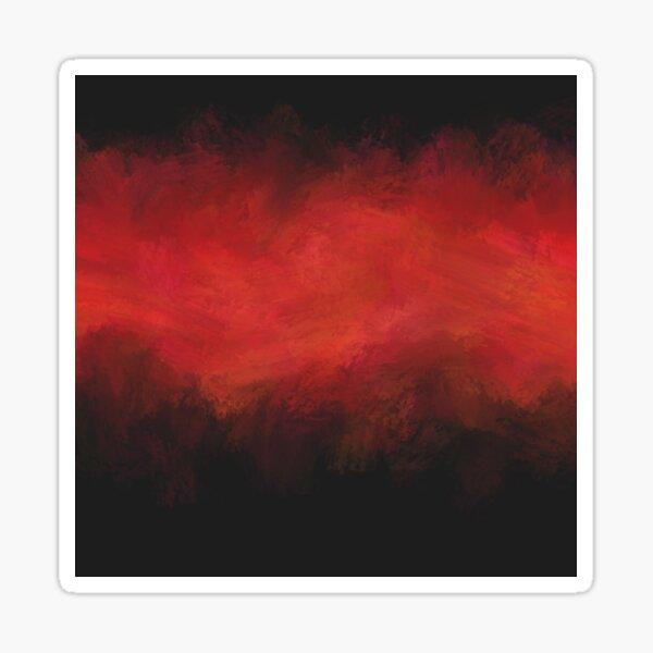 Dark Red Matter Abstract - Black  Sticker