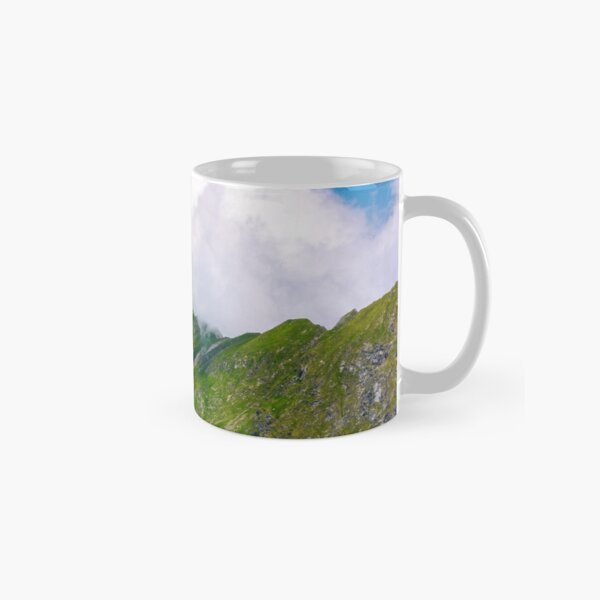 valley of Fagaras mountains in clouds Classic Mug