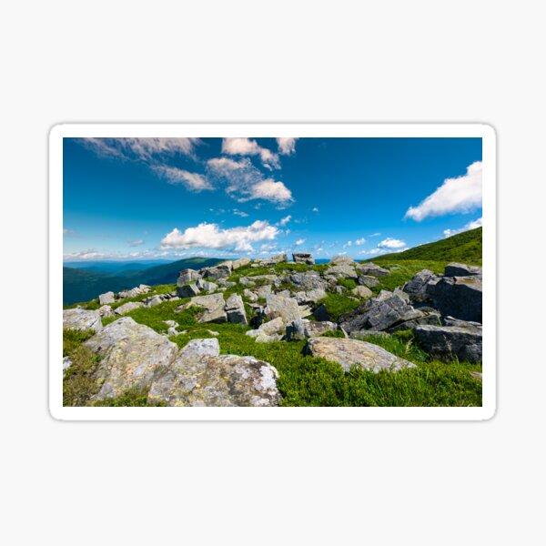Carpathian alps with huge boulders on hillsides Sticker