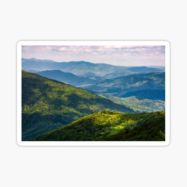 grassy slopes of Carpathian mountains Sticker