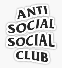 anti social social club phone case Sticker