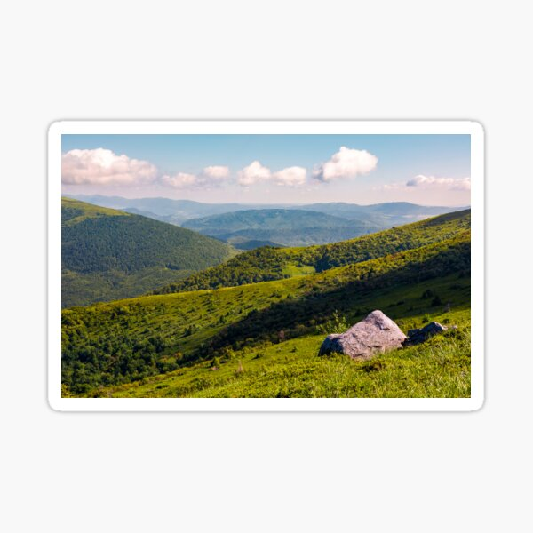 boulders on the hillside in high mountains Sticker