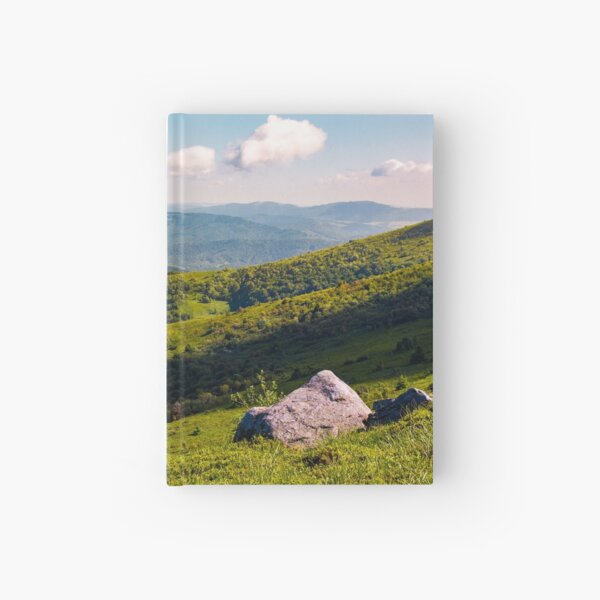 boulders on the hillside in high mountains Hardcover Journal