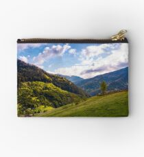 beautiful scenery in mountainous rural area Studio Pouch