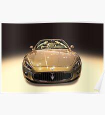 Maserati gold colour Poster