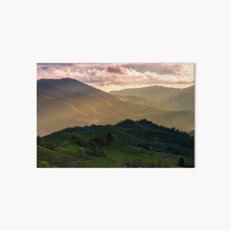 gorgeous panorama of countryside at sunset Art Board Print