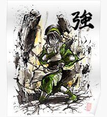 Toph aus Avatar mit Sumi und Aquarell Poster