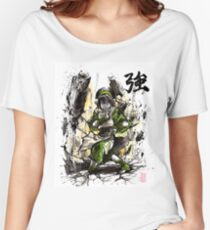 Toph from Avatar with sumi and watercolor Women's Relaxed Fit T-Shirt