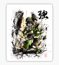 Toph from Avatar with sumi and watercolor Sticker