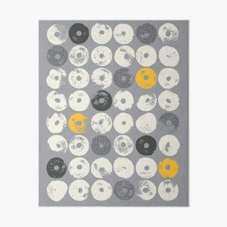 STARDISC, grey, gray, yellow Art Board Print