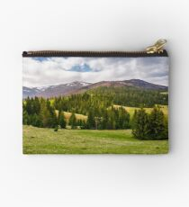 spruce forest on rolling hills in springtime Studio Pouch