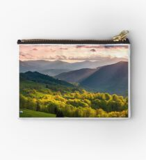 gorgeous mountainous countryside at sunset Studio Pouch