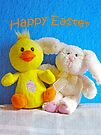 Happy Easter Chick & Bunny by FrankieCat