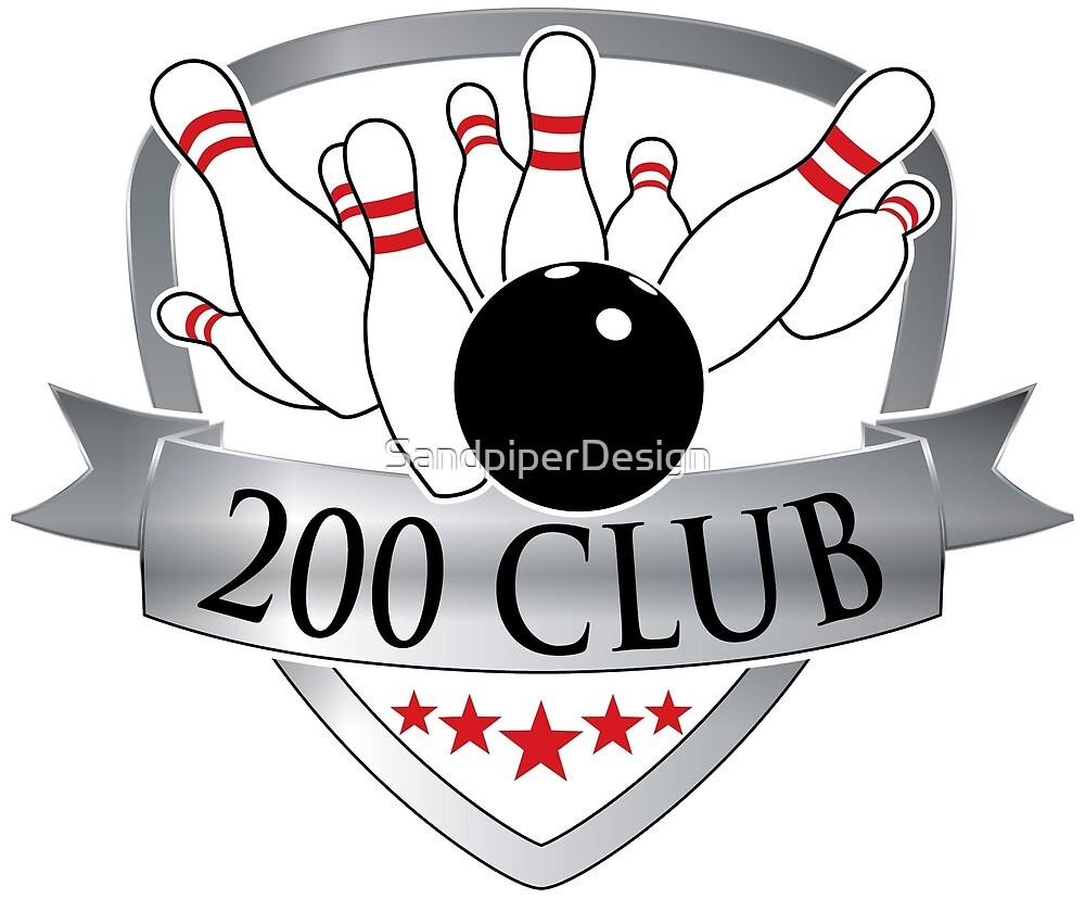 Quot Bowling 200 Club Logo Graphic Quot By David Warren Redbubble