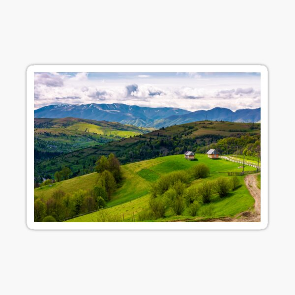 gorgeous countryside in Carpathian mountains Sticker