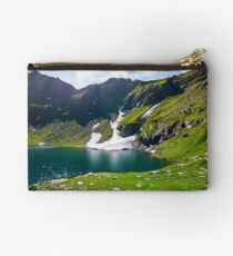 lake Balea in Fagaras mountains on a bright sunny  Studio Pouch