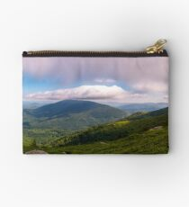 panorama of beautiful mountain landscape Studio Pouch