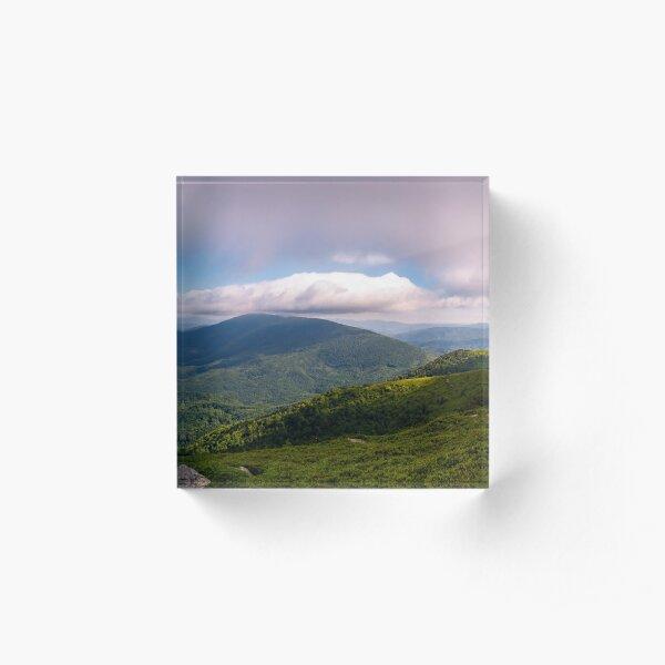 panorama of beautiful mountain landscape Acrylic Block