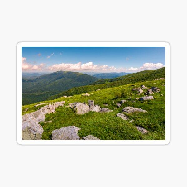 hillside of Runa mountain in summer Sticker