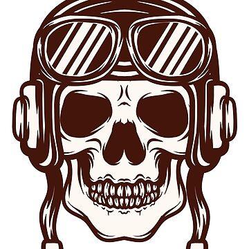 Aviator Skull by grupoimagine