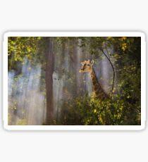 Mystic Forest and Giraffe Wonder - Magical Nature Sticker