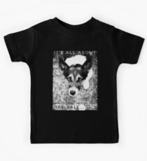 Terrier Obsession: It's All About The Ball - Black and White Remix Kids Tee