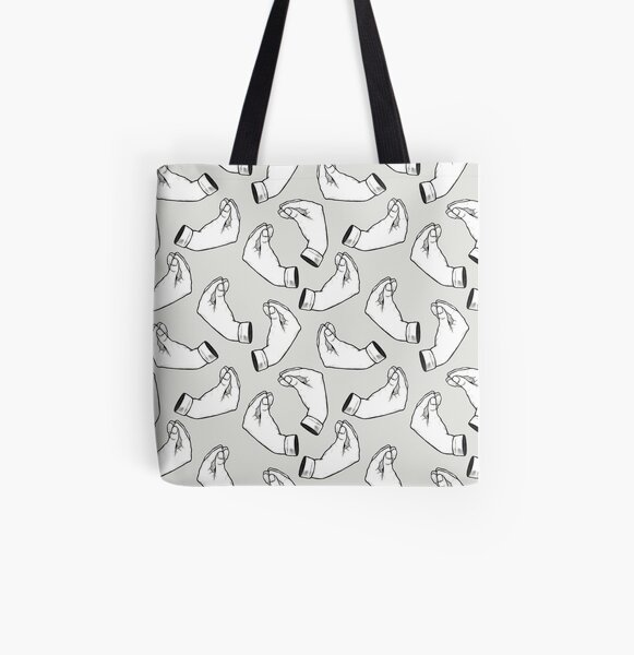 Italian Gestures All Over Print Tote Bag