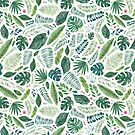 Tropical or Jungle Leaves by Elena  O'Neill