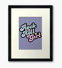 Rock n' Roll Girl Framed Print
