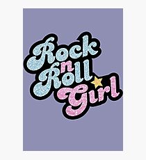 Rock n' Roll Girl Photographic Print