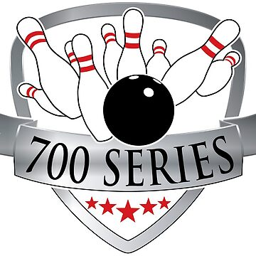 Bowling 700 Series Achievement Logo / Graphic by SandpiperDesign