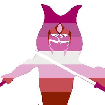 ahsoka lesbian pride by sharkeila