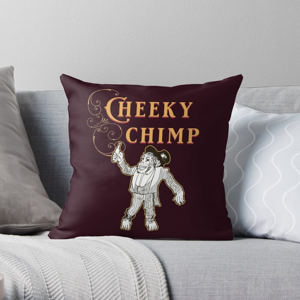 Cheeky Chimp - The Britannia Panopticon  Throw Pillow