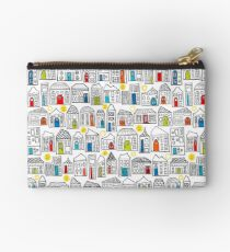 Happy Day in the City // Home Sweet Home in Quirky Neighborhood with Bright Smiling Sun  Studio Pouch