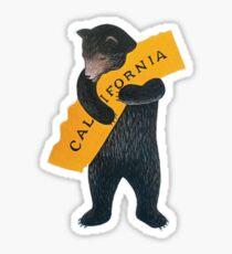 California Bear Hug Sticker